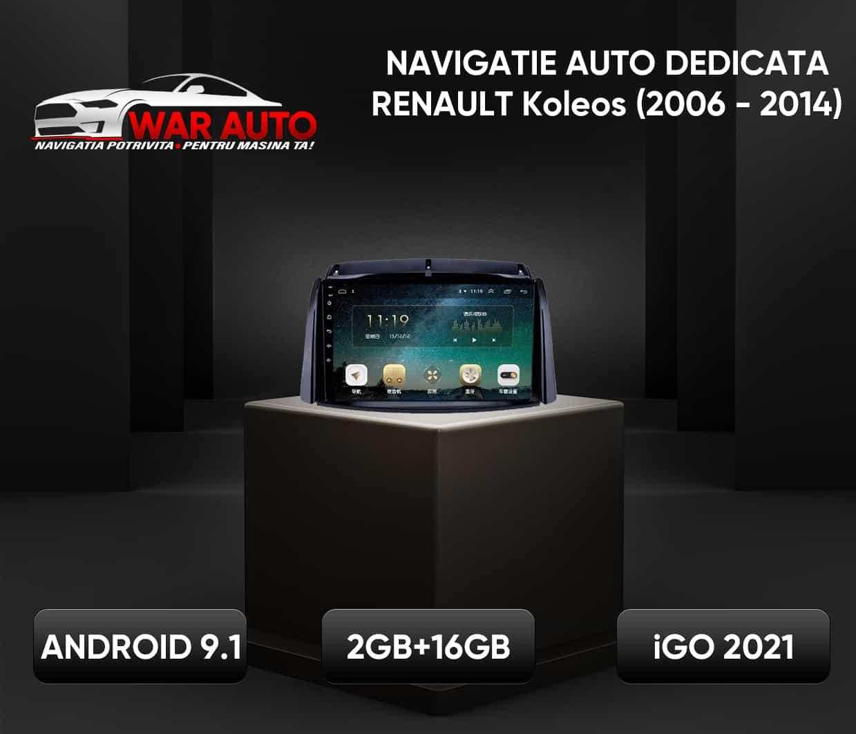 Navigatie Auto Dedicata Renault Koleos 7 inch