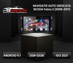 Navigatie 9 inch Skoda Fabia 2 (2008-2011)