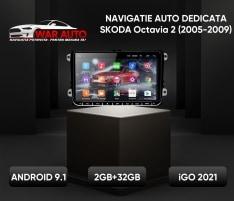 Navigatie 9 inch Skoda Octavia 2 II (2005-2009)