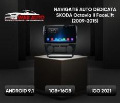 Navigatie 9 inch Skoda Octavia 2 FaceLift (2009-2015)