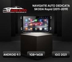 Navigatie GPS 9 inch Skoda Rapid (2011-2019)